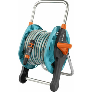 Gardena 2691-20 20M/13MM Hose Reel Set Including Hose and Fittings for Lawn Irrigation