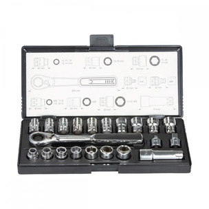 Makita B-65604 21 Piece Pass Thru Sockets Ratchet and Socket Set + Case