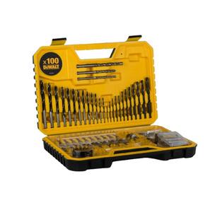 DEWALT DT71563 Drill Bit Set 100 Piece Combination Screwdriver Bits Masonry Wood Metal