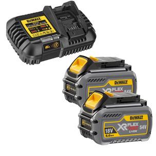 Dewalt DCB546 18v 54v XR Flexvolt 6.0ah Battery Twin Pack + DCB116 Fast Charger