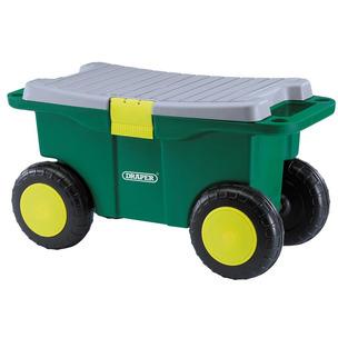 Draper 60852 Gardeners Wheeled Tool Cart Box & Seat Garden Storage Kneeler