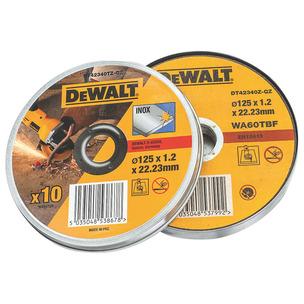 DeWalt DT42340TZ-QZ 125mm x 1.2mm Thin Cut INOX Cutting Discs 10pcs in Tin