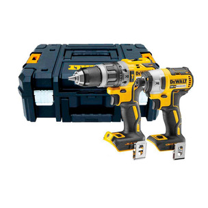 Dewalt DCF887N 18V Brushless Impact Driver with DCD796N Combi Drill Twin Pack In Case