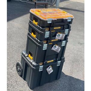 DEWALT TSTAK 2.0 4 PIECE BUNDLE - Shallow & Deep Box, Trolley & Organiser