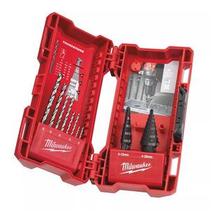Milwaukee 48899350 10 Piece HSS-G Step and Drill Bit Combo Set
