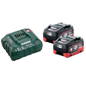 Metabo 685122380 18v 2x5.5Ah LiHD Battery Starter Kit