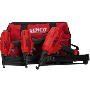 Senco 10S2001N Pneumatic 2nd Fix Nailer & Stapler 3pc Kit in Carry Bag