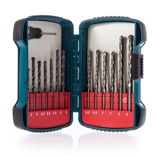 Makita P-51889 13 Piece TCT Masonry Drill Bit Set in Case 4.5 5 5.5 6 6.5 7 8mm