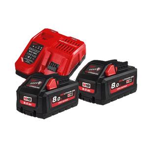 Milwaukee M18HNRG-802 High Output NRG Pack (2 x M18HB8 batts & M12-18FC)