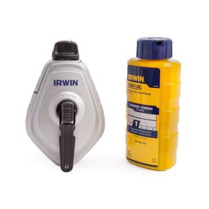 Irwin Strait-Line 10507684 Chalk Line & Blue Builders Chalk