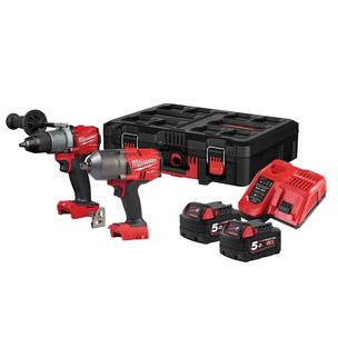 Milwaukee M18FPP2I2-502P 18V Wrench & Drill Combo Kit