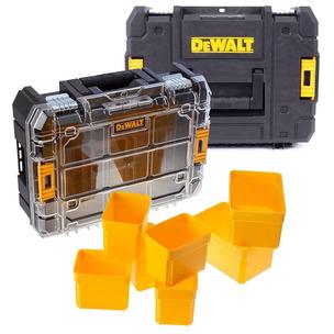 Dewalt DWST1-70703 TStak II + DWST1-71194 TStak Clear Lid Stackable Tool Boxes