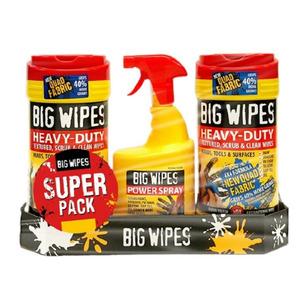 PTM X BIG WIPES MEGA PACK - 2 X HD Red Top Quad Anti-Bac Wipes & HD Spray