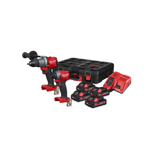Milwaukee M18FPP2A2-304P 18V 4x3Ah Combi Drill Impact Driver Twin Pack Kit