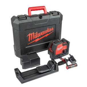 Milwaukee L4CLLP-301C USB Rechargeable Green Cross Line Laser with Plumb Points