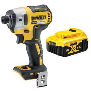 DeWalt DCF887N 18V XR Brushless Impact Driver (Body Only) & DCB184 5.0Ah Battery