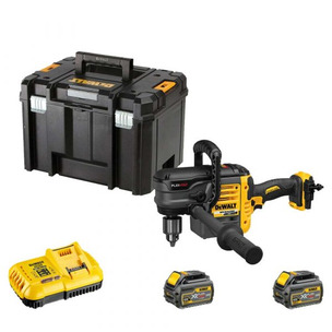 DeWalt DCD460T2-GB 54V XR Flexvolt Brushless Stud And Joist Drill With 2xDCB546 Batteries, Fast Charger and Case