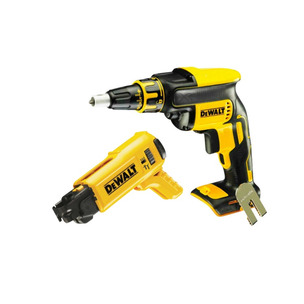 DeWalt DCF620N Cordless Brushless 18V Drywall Screwdriver Body Only & DCF6201 Collated Drywall Screw Gun Attachment