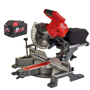 Milwaukee M18FMS190-0 18V Fuel 190mm Mitre Saw (Body Only) & M18B9 9,0Ah Battery Bundle