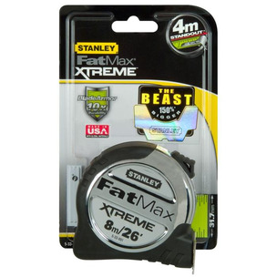 Stanley STA533891 FatMax Xtreme Tape Measure 8m / 26ft