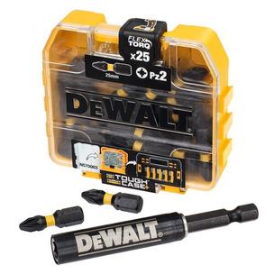 Dewalt DT70564T-QZ  25 Piece PZ2 25mm Impact Screwdriver Bit Box & Magnetic Holder Set