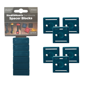 StealthMounts 6 Pack 12mm Spacer Blocks for Tool Mounts - Blue