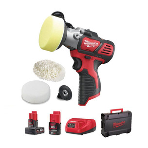 Milwaukee M12BPS-421X 12V Compact Polisher/Sander Kit (1 x 2.0Ah / 1 x 4.0Ah RedLithium-Ion Batteries, Charger & Dyna Case)