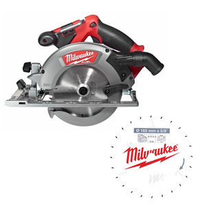 Milwaukee M18CCS55-0 18V Fuel 165mm Circular Saw (Body Only) Plus EXTRA 165mm Saw Blade (4932471311)