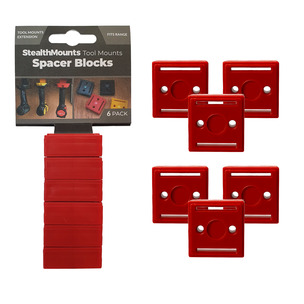 StealthMounts 6 Pack 12mm Spacer Blocks for Tool Mounts - Red