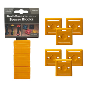 StealthMounts 6 Pack 12mm Spacer Blocks for Tool Mounts - Yellow