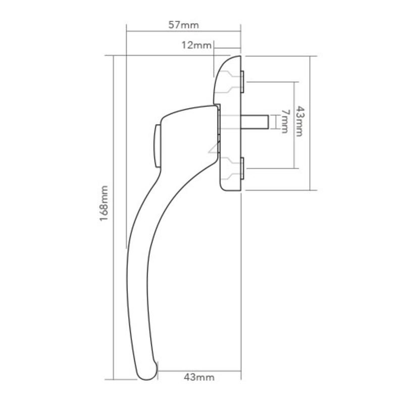 HCLH/HCRH Connoisseur MK1 Cranked Espag Handle