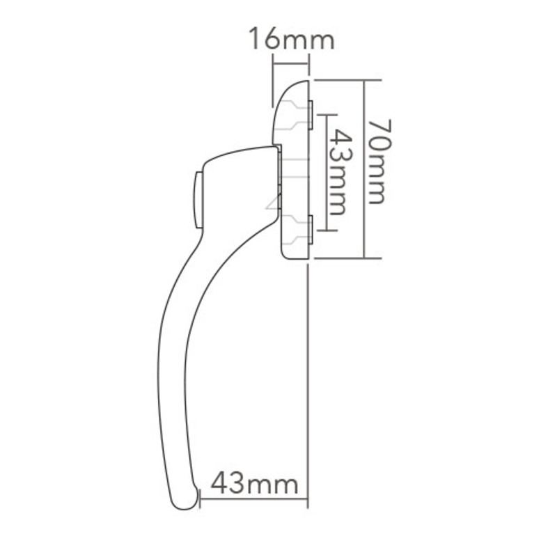 HCNH Connoisseur MK1 Locking Inline Espag Handle