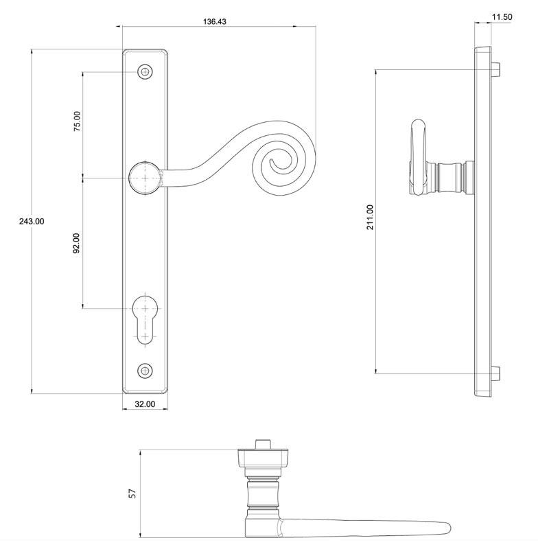 DHMMKT ERA Fab&Fix Monkeytail Door Handle