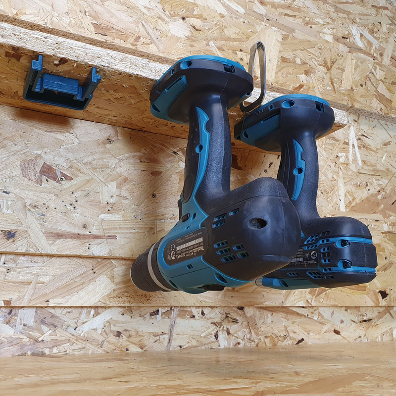 StealthMounts 4 Pack Tool Mounts for Makita 18V LXT Tools - Blue